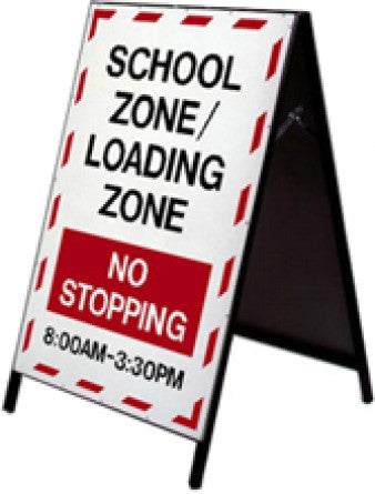School Safety Stand - School Zone / Loading Zone