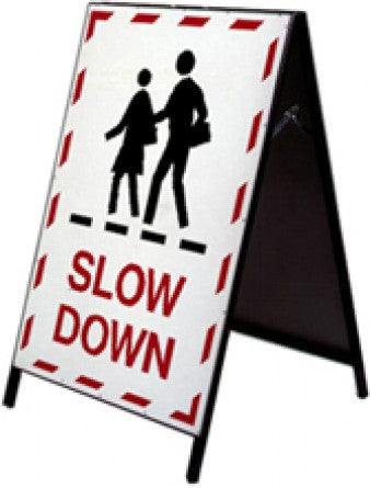 School Safety Stand - Slow Down