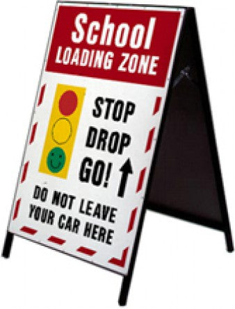 School Safety Stand - School Loading Zone