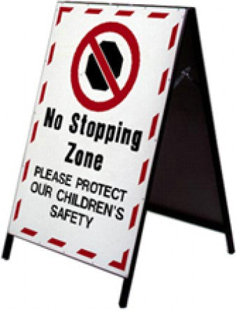 School Safety Stand - No Stopping Zone