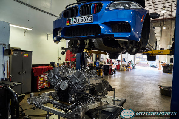 F10 M5 sleeved and forged internal S63TU V8 engine build process capable of holding 1500+ horsepower