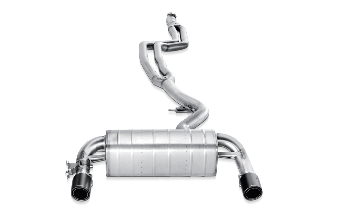 EVOLUTION STAINLESS STEEL EXHAUST SYSTEM WITH LINK PIPE