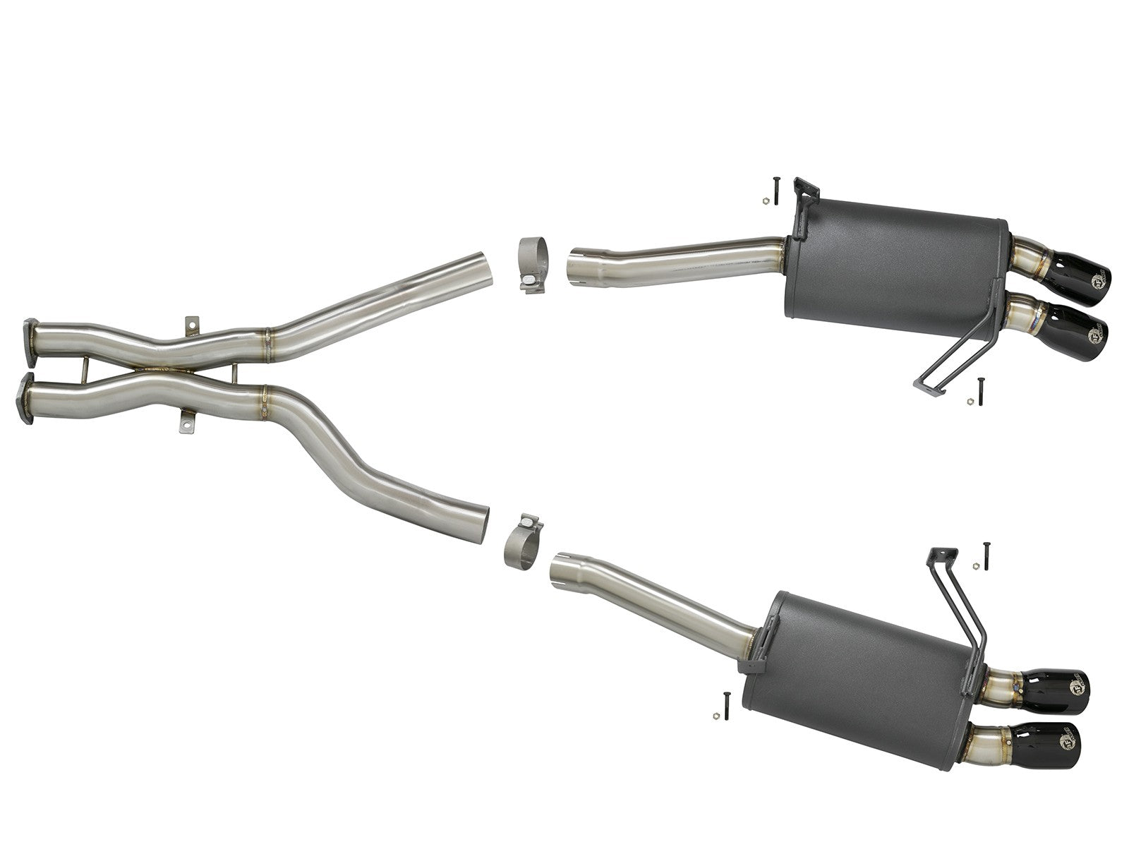Cat-Back Exhaust w/ Black Tips