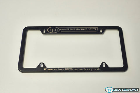 Bimmer Performance Center License Plate Frame