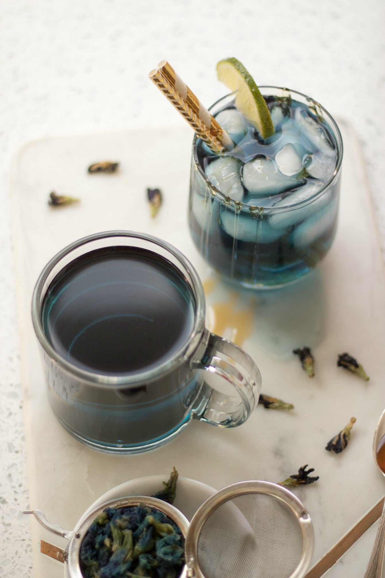 Blue Butterfly Pea Flower Tea 1341x2011 hot and cold