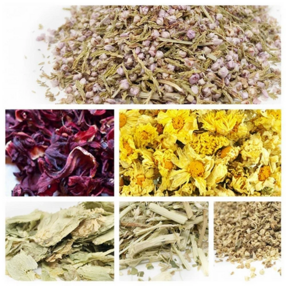 Bulk Botanical Herb Sampler (6 pack): Passion Flower, Hibiscus, Heather, Hops Flower, Chrysanthemum and Elder Flower
