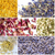bMAKER Flower Kit (6 Pack, Cornflower) 1.5-Cup Bags of Jasmine Buds, Cornflower Petals, Pink Rose Petals, Ultra Blue Lavender, Marigold, and Chamomile