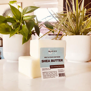 bMAKER All-Natural Shea Butter Melt and Pour Soap Base (2lb Blocks) - Moisturizing and Nourishing M&P Base Soap Making Supplies - Suitable for Sensitive or Dry Skin