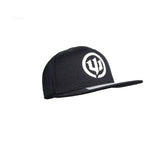 Hat - Black Snapback with white Logo