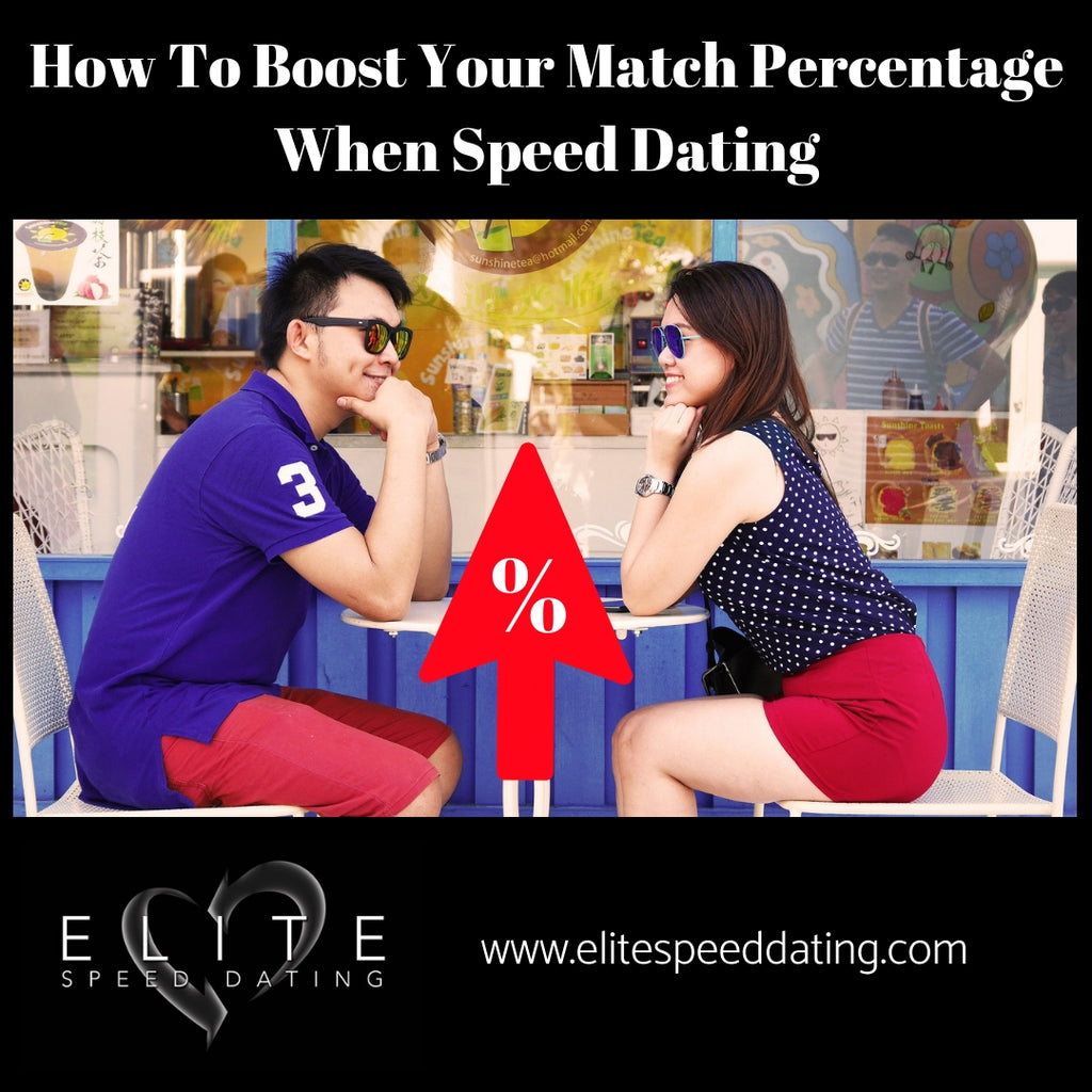 How To Boost Your Match Percentage When Speed Dating