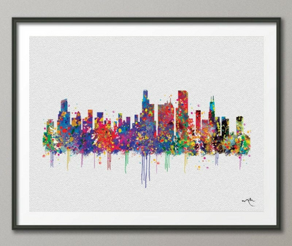 MAP  AND SKYLINE ART