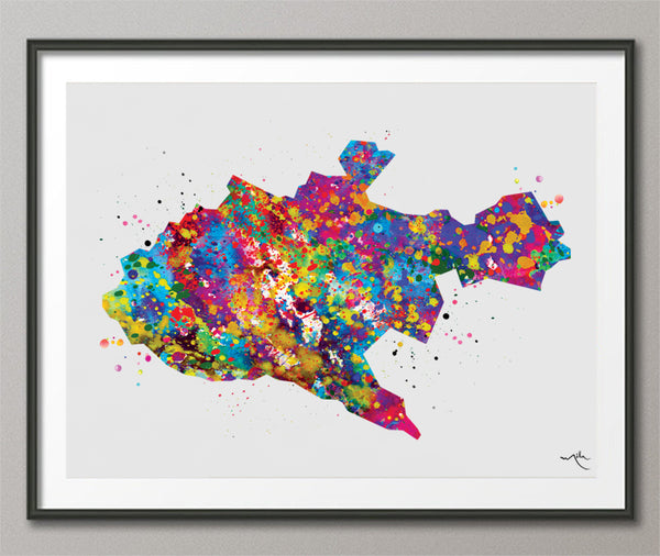 Nairobi Map Watercolor Print Kenya City Map Afro Art Decor Wanderlust Art Print Wall Wedding Gift African Travel Wall Decor Wall Hanging-573