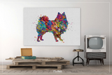 American Eskimo Dog Watercolor Print Eskie Dog Art Custom Dog Portrait Pet Gift Animal Dog Painting Doglover Gift Personelize Poster-1488 - CocoMilla