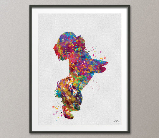 Bichon Frise Dog Watercolor Print Dog Lovers Gift Dog Toy Dog Art Print Nursery Wall Art Paw Prints Wall Decor Home Decor Wall Hanging-382 - CocoMilla