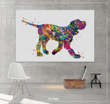 Italian Spinone Watercolor Print Personelized Memorial Gift Pet Spinone Italiano Doglover Gift Pet Animal Spinone Dog Poster Dog Art-1589 - CocoMilla