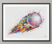 Golf Ball Watercolor Print Gift for Golfers Golf Gift Golfer Golf Sports Painting Golf Poster Art Gifts for Him Game Art Golf Wall Art -395 - CocoMilla