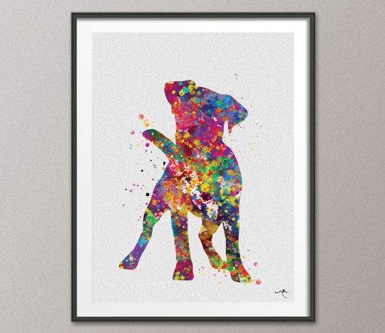 Jack Russell Cute Dog Watercolor Print Jack Russell Terrier Gift Pet Dog Love Puppy Friend Animal Dog Dogart Poster Dog Art Terrier Art-1165 - CocoMilla