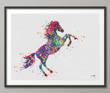Horse Watercolor Print Horse Love Horse Lover Gift Giclee Wall Decor Farm Animal Wal Art Home Decor Horses Poster Horse Art Wall Hanging-512 - CocoMilla