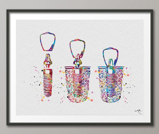 Dental Implant Watercolor Print Tooth Anatomical Art Dental Clinic Decor Dentistry Student Science Graduaiton Dentist Gift Doctor Art-1099 - CocoMilla