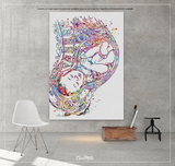 Pregnancy Watercolor Print Womb Pregnancy Anatomy Gynecology Obstetrician Nursing Midwife Baby Fetus Medical Art Clinic Doctor Gift-1096 - CocoMilla