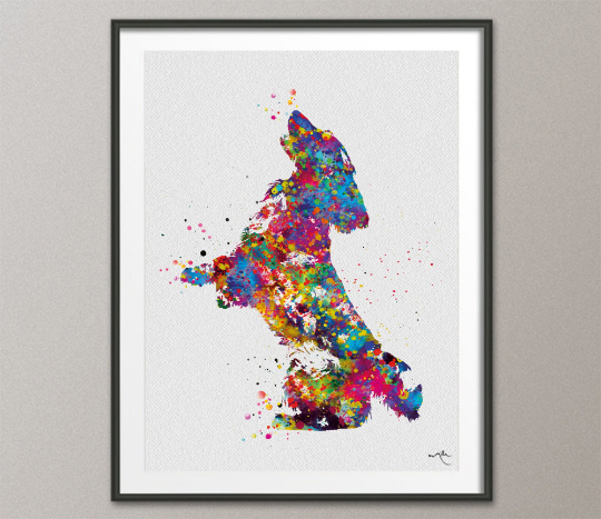 Cocker Spaniel Dog Watercolor Print Cocker Jumping Playing Bouncing Gift Pet Dog Love Puppy Pet Art Dogart Abstract Poster Dog Art-1417 - CocoMilla