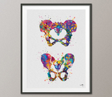 Pelvis Art Watercolor Print Male Female Human Pelvis Bone Hip Anatomy Orthopedic Skeletal System Medical Art Cabinet Doctor Office Decor-278 - CocoMilla