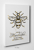 Manchester Bee Watercolor Print This is Manchester Quote Inspirational Wall Art Poster Wall Decor Home Worker Bee Decor Wall Hanging-109 - CocoMilla