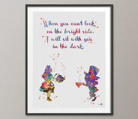 Mad Hatter and Alice in Wonderland Quote 3 Watercolor Print Tea Time Baby Shower For Kids Nursery Love Quote Wedding Gift Wall Hanging-1090 - CocoMilla