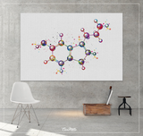 Serotonin Molecule Art Watercolor Print Medical Art Happiness Molecule Symbol Wall Art Nerd Science Art Biology Chemistry Science Decor-1520 - CocoMilla