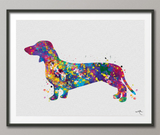 Dachshund Dog Watercolor Print Fine Art Dachshund Painting Print Children's Wall Art Dog Lover Doxie Teckel Sausage Dog Art Dog Art-357 - CocoMilla