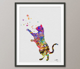 Cat Watercolor Print Animal Love Wall Art Poster Cat illustrations Pet Love Giclee Wall Decor Home Decor Cat Painting Wall Hanging No-110 - CocoMilla