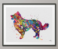 Border Collie Dog Watercolor Print Dog Lovers Gift Dog Collie Art Print Children's Kids Wall Art Wall Decor Art Home Decor Wall Hanging-411 - CocoMilla