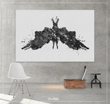 Rorschach Inkblot Test Card 5 BW Watercolor Print Psychology Psychiatry Psychotherapist Psychological Psychologist Clinic Medical Art-1315 - CocoMilla