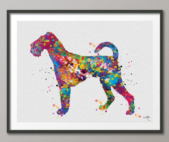 Airedale Terrier Watercolor Dog Print Pet Gift Pet Dog Love Puppy Friend Dog Poster Dog Art Dog Wall Art Animal Poster Dog Art Poster-365 - CocoMilla