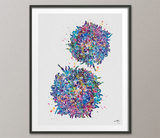 T-Cells Watercolor Print Immune Cells Medical Art Science Histology T Cells Biology Art Oncology immunology Clinic Office Cancer Chemo-1473 - CocoMilla