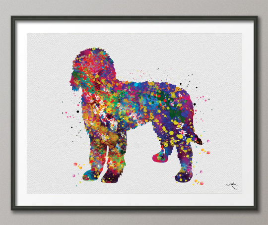 Labradoodle Watercolor Print Labradoodle Doglover Gift Pet Dog Love Puppy Friend Animal Dog Dogart Poster Dog Art Doodle Art Poster-1561 - CocoMilla