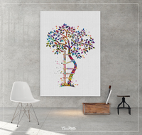 Orthopedic Tree Watercolor Print Crooked Tree Orthopedic Symbol Wall Art Physiotherapy Chiropractor Gift Skeletal Medical Art Anatomy-1399 - CocoMilla