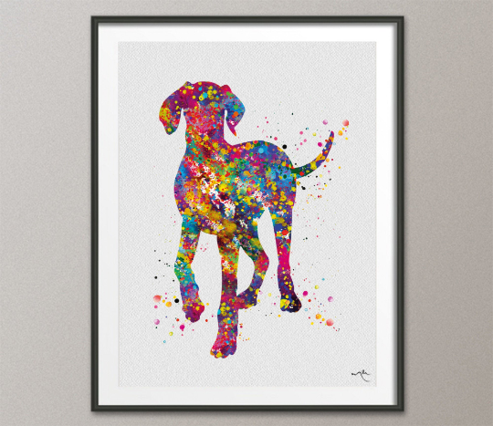 Hungarian Vizsla Dog Portrait Watercolor Print Magyar Dog Pet Gift Dog Love Puppy Friend Dog Art Custom Poster Vizsla Poster Dogart-1445 - CocoMilla