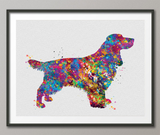Field Spaniel Dog Watercolor Print Pet Gift Pet Dog Love Puppy Friend Dog Decor Poster Dog Art Dog Wall Art Doglover Gift Animal Poster-1440 - CocoMilla