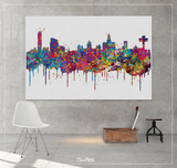 Liverpool Skyline Watercolor Print Cityscape Living Room Wedding Gift Poster England Poster Travel Art Wall Decor Wall Hanging Map Art-1620 - CocoMilla