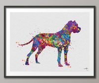 Dogo Argentino Watercolor Print Dogo Argentino Art Print Poster Gift Pet Dog Love Puppy Friend Animal Dog Poster Pet Decor Custom Dog-1103 - CocoMilla