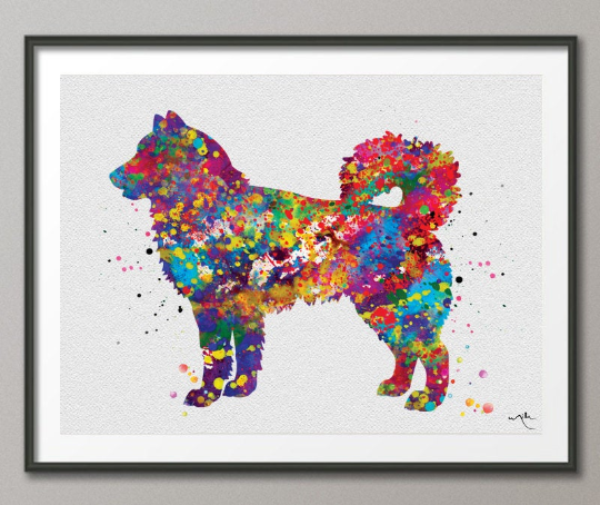 Alaskan Malamute Watercolor Dog Print Pet Gift Pet Dog Love Friend Dog Alaskan Malamute Dog Art Dog Wall Art Doglovers Gift Dog Print-377 - CocoMilla