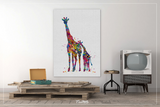 Giraffe and Baby Love Watercolor Print Family Portrait Gift For Kids Nursery art Wall Art Wall Decor Baby Shower Birthday Wall Hanging-801 - CocoMilla