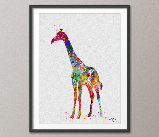 Giraffe Watercolor Painting Print Archival Fine Art Print For Kids Nursery art Wall Art Wall Decor Art Home Decor Wall Hanging[NO 243] - CocoMilla