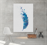 Feather and Stars Watercolor Print Boho Art Office Decor Gift Wall Art Poster Minimalist Wall Decor Art Home Decor Wall Hanging-1465 - CocoMilla