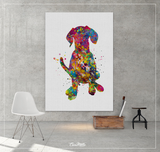 Hungarian Vizsla Dog Watercolor Print Magyar Dog Pet Gift Dog Love Puppy Friend Dog Art Customizable Animal Poster Vizsla Poster Dogart-1617 - CocoMilla