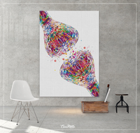 Synapse Receptor Watercolor Print Science Poster Neurology Art Neuroscience Medical Art Brain Graduation Gift Clinic Office Decor Gift-1337 - CocoMilla