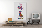 Cat Quote Home is Where the Cat is Watercolor Print Cat Lover Wall Art Wall Decor Cat Mom Home Decor Kitty Cat Painting Wall Hanging-1609 - CocoMilla
