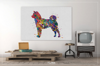Shiba inu Dog Watercolor Print Shiba inu Playing Decor Dog Painting Gift Pet Doglover Nursery Puppy Pet Dogart Abstract Poster Dog Art-87 - CocoMilla