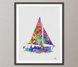 Sailboat Watercolor illustrations Coastal Living Art Print Wall Art Poster Giclee Wall Decor Art Home Decor Wall Hanging No 142 - CocoMilla